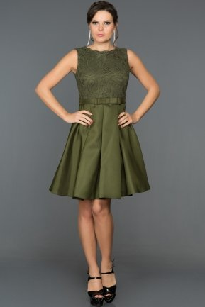 Short Olive Drab Evening Dress BL2101