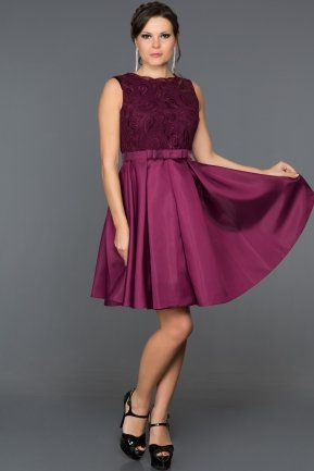 Short Purple Evening Dress ABK045