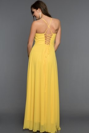 Long Yellow Evening Dress AB7333