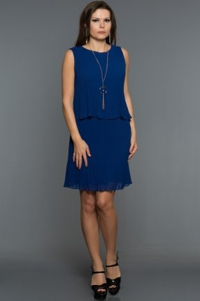 Short Sax Blue Evening Dress DS442