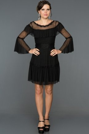 Short Black Evening Dress DS449