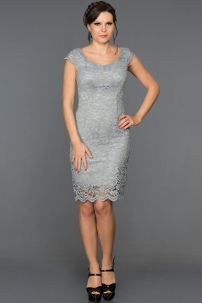 Short Grey Evening Dress ABK010