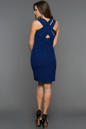 Short Sax Blue Evening Dress DS458