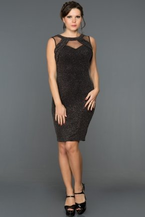 Short Black Evening Dress DS474