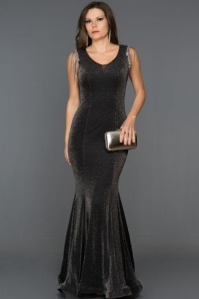 Long Black-Silver Mermaid Prom Dress DS5032