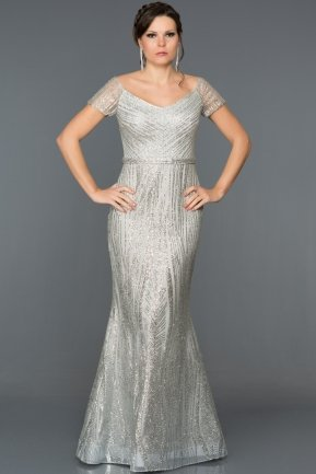 Long Silver Mermaid Prom Dress S4521