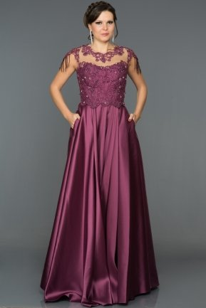 Long Plum Engagement Dress AB4559