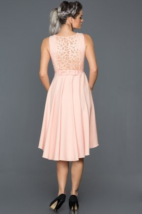 Short Salmon Evening Dress DS468
