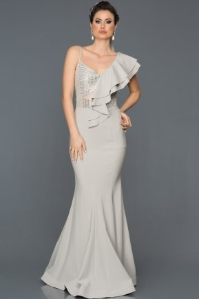 Long Grey Mermaid Prom Dress ABU273
