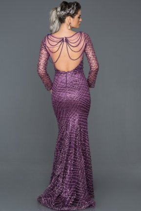 Long Purple Mermaid Prom Dress F4400