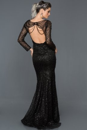 Long Black Mermaid Prom Dress ABU274