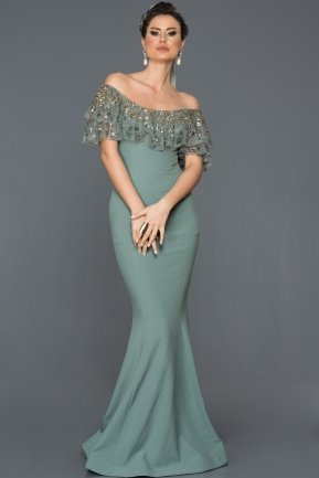 Long Turquoise  Mermaid Prom Dress F4458