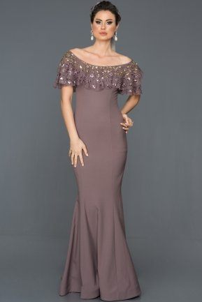 Long Lavander Mermaid Prom Dress ABU558