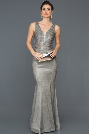 Long Antrasite Mermaid Prom Dress AB4557