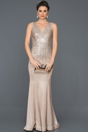 Long Mink Mermaid Prom Dress AB4557