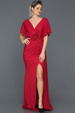 Long Red Mermaid Prom Dress F4595