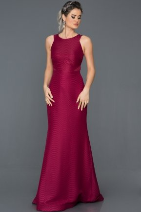 Long Plum Prom Gown ABU224