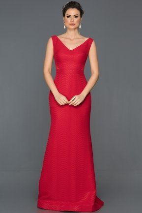 Long Red Prom Gown GG7042