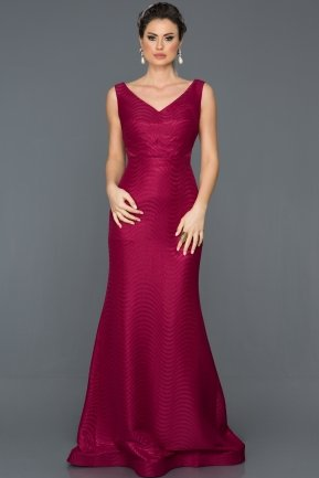 Long Plum Prom Gown GG7042