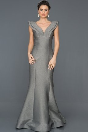Long Black-Silver Mermaid Prom Dress AB7583