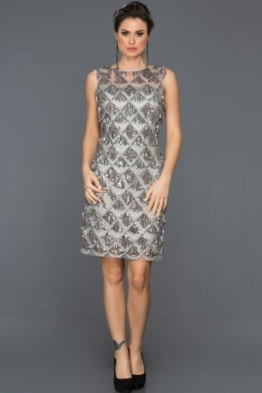 Short Grey Evening Dress AB98832