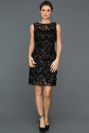 Short Black Evening Dress AB98832