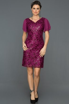 Short Fuchsia Evening Dress AB98854