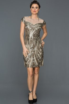 Short Grey Evening Dress N98859