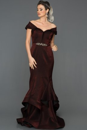 Long Burgundy Mermaid Prom Dress S4576