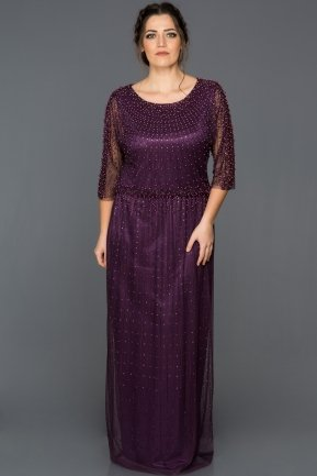 Long Violet Evening Dress ABU256