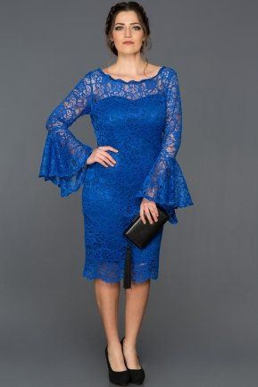Short Sax Blue Plus Size Dress AB38151