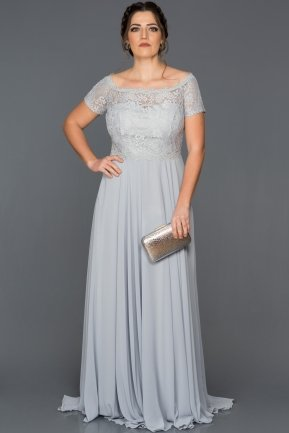 Long Grey Plus Size Evening Dress BL2107