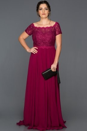 Long Plum Plus Size Evening Dress BL2107