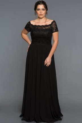 Long Black Plus Size Evening Dress BL2107
