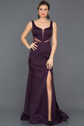 Long Plum Prom Gown AN2574