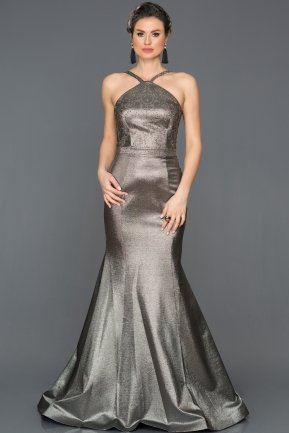 Long Silver Mermaid Evening Dress AB2576