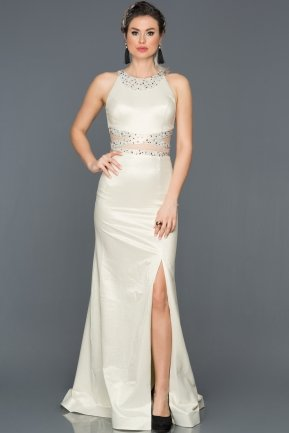 Long Ecru-Gold Mermaid Prom Dress ABU211