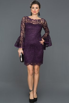 Short Purple Invitation Dress AR38152