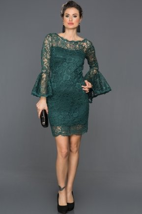 Short Oil Green Invitation Dress AR38152