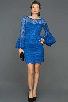 Short Sax Blue Invitation Dress AR38152