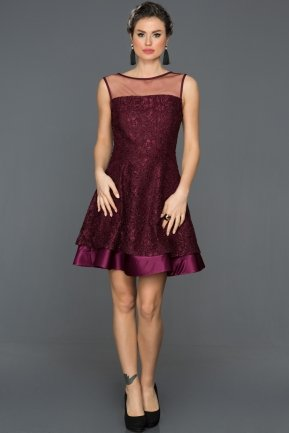 Mini Plum Prom Gown ABK113