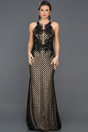 Long Black Engagement Dress CP4259