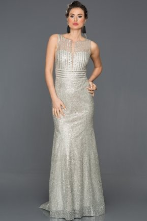 Long Grey Engagement Dress CP4263