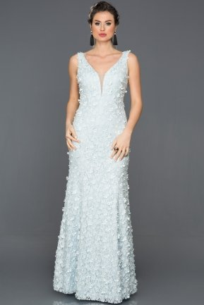 Long Blue Engagement Dress CP4302