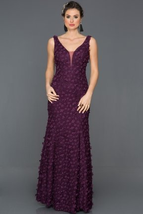 Long Purple Engagement Dress CP4302