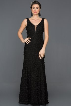 Long Black Engagement Dress CP4302