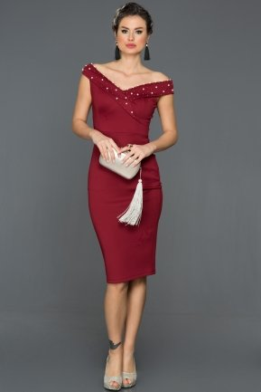 Burgundy Invitation Dress ES3782