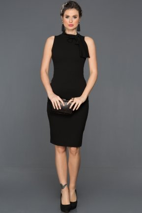 Short Black Evening Dress ES3790
