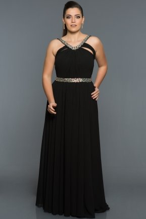 Long Black Oversized Evening Dress GGB6938