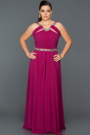 Long Cherry Colored Oversized Evening Dress GGB6938